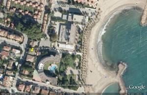 detalle de apartamenots lilas en playa la llosa de Cambrils